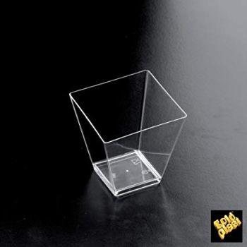 Coppetta in plastica rombo trasparente 95 cc 25 pezzi