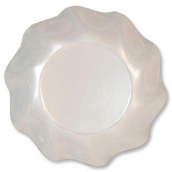 10 Coppette Tinta Unita in cartoncino Bianco Perlato 18.5 cm