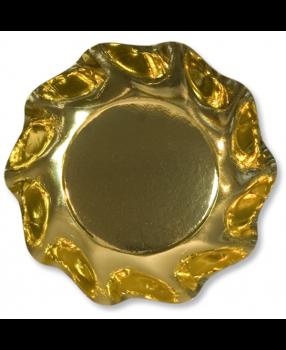 10 Coppette Tinta Unita in cartoncino Oro Lucido 18.5 cm