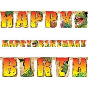 Festone Happy Birthday Dino Blast 2.2 mt - 1 pz