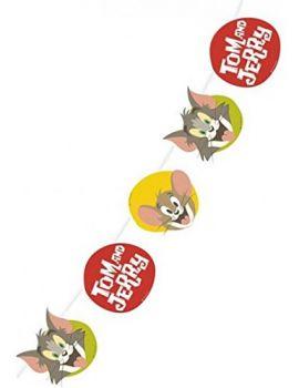 Festone di carta  400 x 22 cm Tom & Jerry