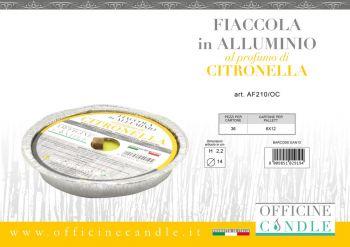 Fiaccola alla Citronella in Alluminio in citronella 14 cm