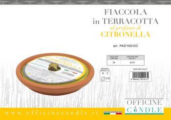 Fiaccola alla Citronella in Vaso di Terracotta in citronella 17 cm