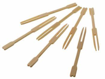 Forchettine Natural Bamboo 9 cm 48 pezzi