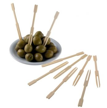Forchettine Natural Bamboo 9 cm 1000 pezzi