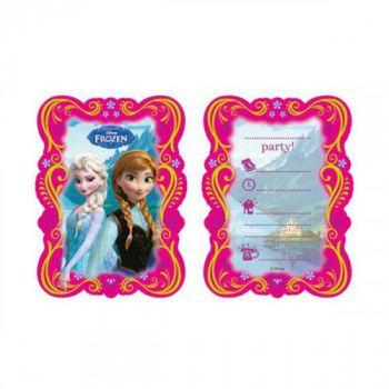 Biglietti Inviti con Busta Frozen 14 x 8.5 cm - 6 pz