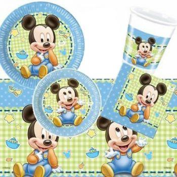 Kit Festa a Tema Baby Mickey per 15 Bambini