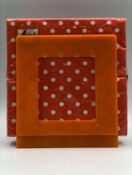 Portatovaglioli Smart Mandarino 33 x 33 cm in plastica rigida