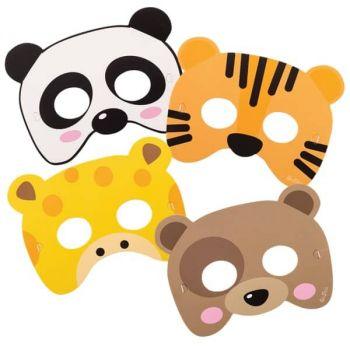 Mascherine Zoo Party 4 pz