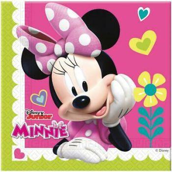 Tovaglioli Minnie e Paperina felici 33 x 33 cm