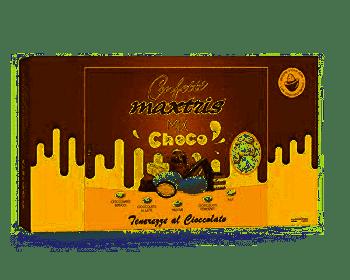Confetti Maxtris con mandorla ricoperta di cioccolato ai gusti assortiti senza glutine