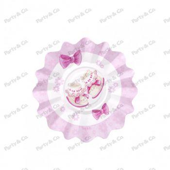 Piatti in cartoncino Baby Rosa 21 cm 8 pezzi