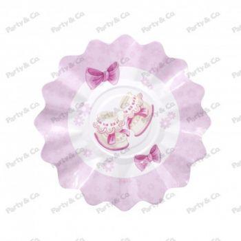 Piatti in cartoncino Baby Rosa 27 cm 8 pezzi