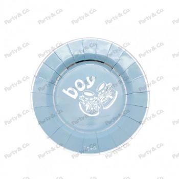 Piatti in cartoncinon Boy Silver 21 cm 8 pezzi