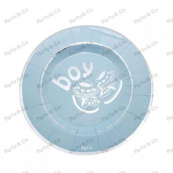 Piatti in cartoncino Boy Silver 27 cm 8 pezzi