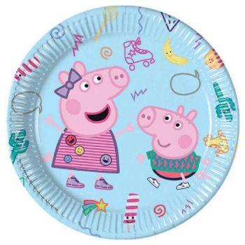 Piatto Grande Peppa Pig 23 cm - 8 pz