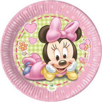 Piatti piccoli baby Minnie 18 cm 8 pz