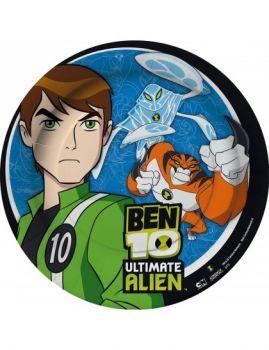 8 Piatti Ben Ten Ultimate Alien 23 cm