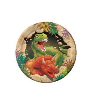PIatto Piccolo Dino Blast 18 cm - 8 pz