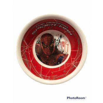 Piattino fondo in melamina per la scuola Spiderman 15 cm