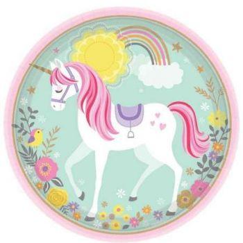 Piatto grande magical unicorn 23 cm
