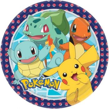 Piatto Grande Pokemon 23 cm - 8 pz