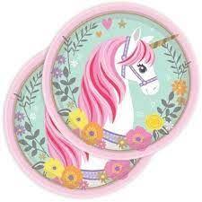 Piatto piccolo magical unicorn 18 cm