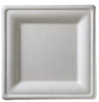 Piatto quadrato grande ecocompatibile 25.5 x 25.5 cm 50 pz