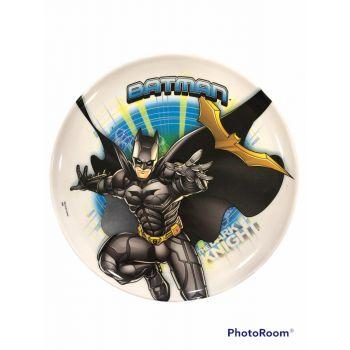Piatto grande in melamina per la scuola Batman 23 cm