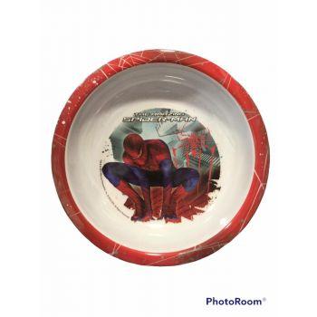 Piatto fondo in melamina per la scuola Spiderman 21 cm