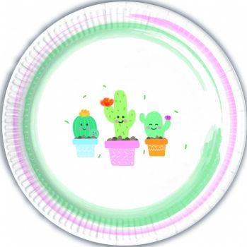 Piatto Grande Happy Cactus 23 cm - 8 pz