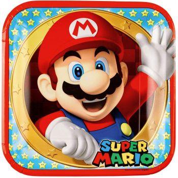 Super Mario Bros 8 piatti 23 cm