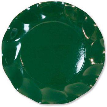 10 Piatti Medi Tinta Unita in cartoncino Verdi 24 cm