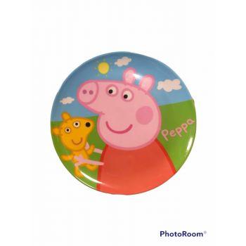 Piatto grande in melamina per la scuola Peppa Pig 21 cm