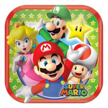 Super Mario Bros 8 piatti 18 cm