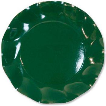 10 Piatti piccoli Tinta Unita in cartoncino Verdi 21 cm