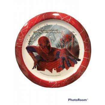 Piatto grande in melamina per la scuola Spiderman 23 cm