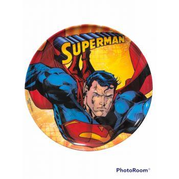 Piatto grande in melamina per la scuola Superman 27 cm