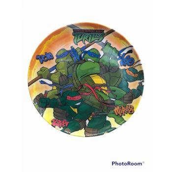Piatto grande in melamina per la scuola Tartarughe Ninja 27 cm