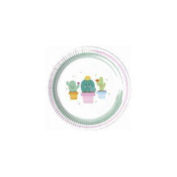 Piatto Piccolo Happy Cactus 18 cm - 8 pz