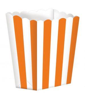 Scatola Porta Popcorn Arancio 5 pz