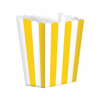 Scatola Porta Popcorn Giallo 5 pz