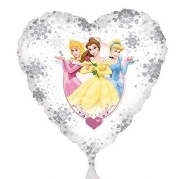 Pallone foil buon compleanno principesse 45 cm