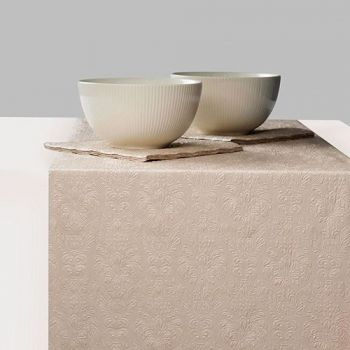 Runner da tavola 33 x 600 Elegance Pearl Taupe