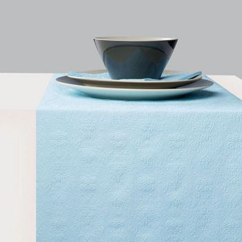 Runner da tavola 33 x 600 Elegance light blue