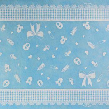 Runner tnt battesimo celeste 300 x 35 cm
