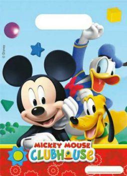 Sacchetti regalo Mickey Mouse Topolino 23 x 16.5 cm - 6 pz