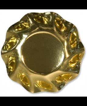 10 Scodelle Tinta Unita in cartoncino Oro Lucido 24 cm