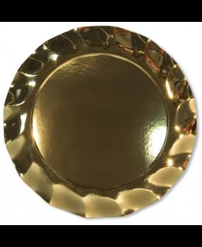5 Sottopiatti in Tinta Unita in cartoncino Oro Lucido 32.4 cm