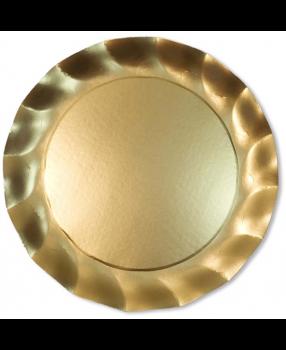 5 Sottopiatti in Tinta Unita in cartoncino Oro Satinato 32.4 cm